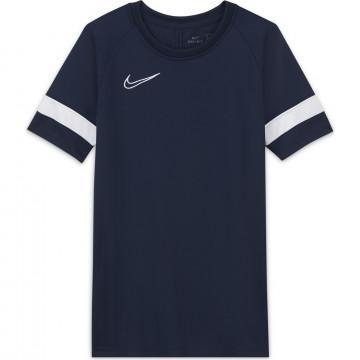 Maillot entraînement junior Nike Academy bleu foncé blanc