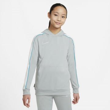 Sweat à capuche junior Nike Academy gris bleu