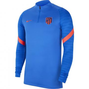 Sweat zippé Atlético Madrid Strike bleu rouge 2021/22
