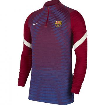 Sweat zippé FC Barcelone Strike Elite rouge bleu 2021/22