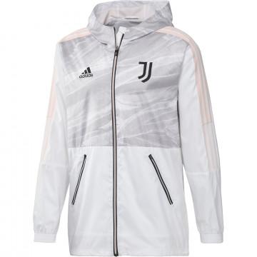 Coupe vent Juventus blanc rose 2020/21