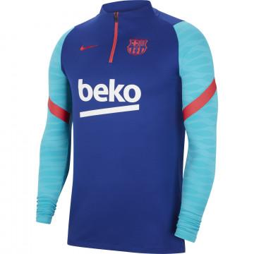Sweat zippé FC Barcelone bleu rouge 2020/21