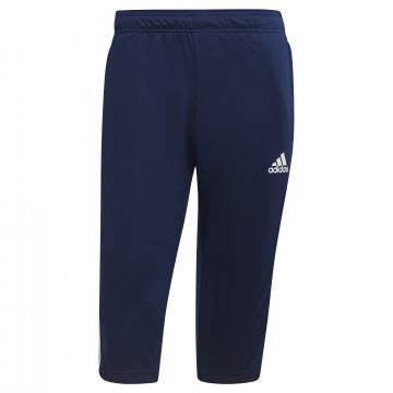 Pantalon survêtement 3/4 adidas bleu blanc
