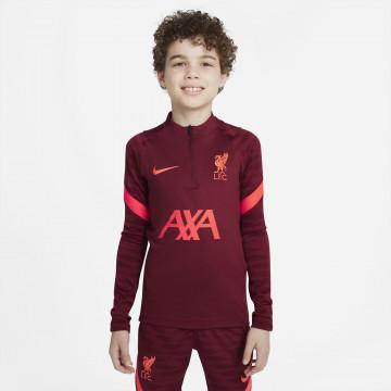 Sweat zippé junior Liverpool rouge 2021/22