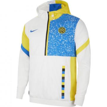 Sweat zippé à capuche Inter Milan blanc 2020/21