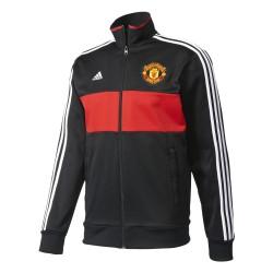 Veste Survêtement Manchester United Noire et Rouge