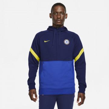 Sweat zippé Chelsea Fleece bleu jaune 2021/22