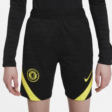 Short entraînement junior Chelsea noir jaune 2021/22