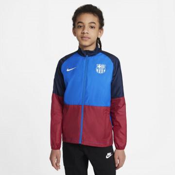 Veste imperméable junior FC Barcelone bleu rouge 2021/22