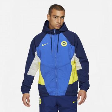 Veste survêtement Chelsea molleton bleu jaune 2021/22