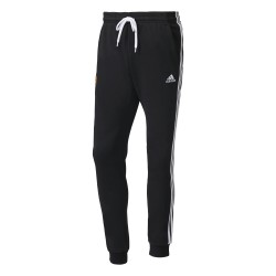 Pantalon Survêtement Manchester United noir bandes blanches