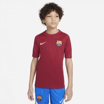Maillot entraînement junior FC Barcelone Strike rouge 2021/22