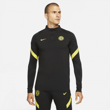 Sweat zippé Chelsea Strike noir jaune 2021/22