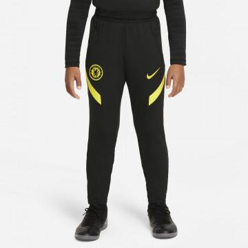 Pantalon survêtement junior Chelsea Strike noir jaune 2021/22