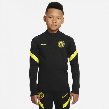 Sweat zippé junior Chelsea Strike noir jaune 2021/22