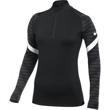 Sweat zippé Femme Nike Strike noir blanc
