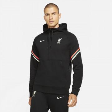 Sweat zippé Liverpool Fleece noir blanc 2021/22