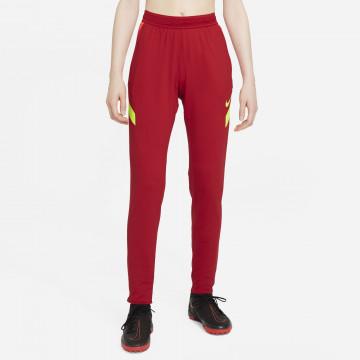 Pantalon survêtement Femme Nike Strike rouge jaune 2021/22