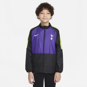 Veste imperméable junior Tottenham noir violet 2021/22