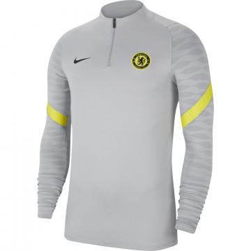 Sweat zippé Chelsea Strike gris jaune 2021/22