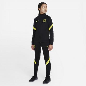 Ensemble survêtement junior Chelsea Strike noir jaune 2021/22