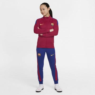 Ensemble survêtement junior FC Barcelone Academy rouge bleu  2021/22