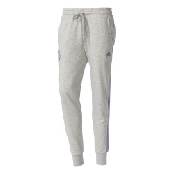 Pantalon Survêtement Real Madrid Gris bandes violettes