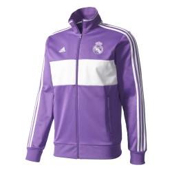 Veste Survêtement Real Madrid Violet et Blanc