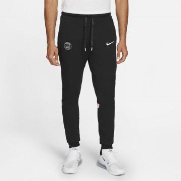 Pantalon survêtement PSG Fleece noir rose 2021/22
