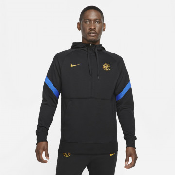 Sweat zippé à capuche Inter Milan noir 2021/22