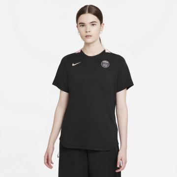 Maillot Femme PSG Lifestyle noir rose 2021/22