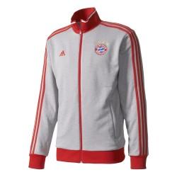 Veste Survêtement Bayern Munich Grise bandes rouges