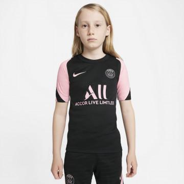 Maillot entraînement junior PSG noir rose 2021/22