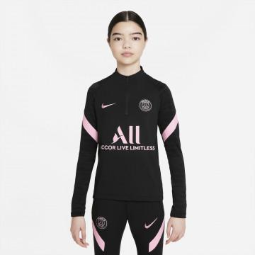 Sweat zippé junior PSG noir rose 2021/22