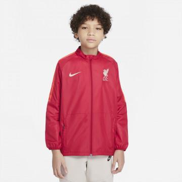 Veste imperméable junior Liverpool rouge 2021/22