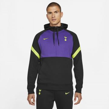 Sweat zippé Tottenham Fleece noir violet 2021/22
