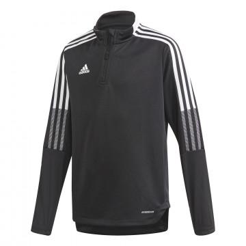 Sweat zippé junior adidas Tiro21 noir blanc