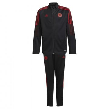 Ensemble survêtement junior Bayern Munich noir rouge 2021/22