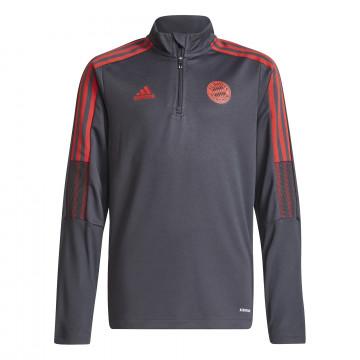 Sweat zippé junior Bayern munich noir rouge 2021/22