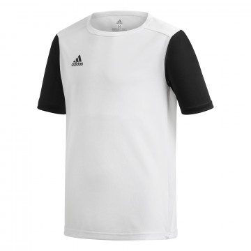 Maillot entraînement junior adidas Estro blanc noir
