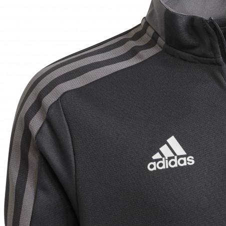 Sweat zippé junior Juventus gris blanc 2021/22