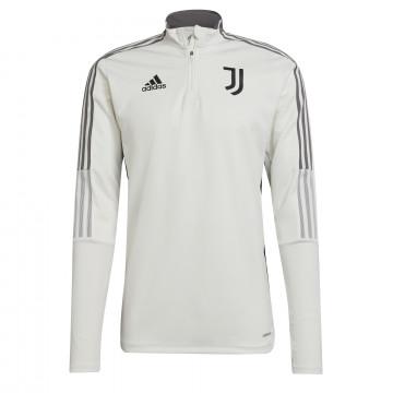 Sweat zippé Juventus blanc gris 2021/22