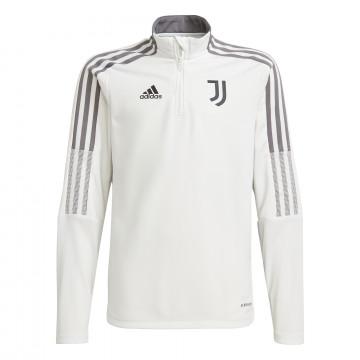 Sweat zippé junior Juventus blanc gris 2021/22