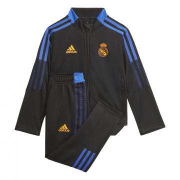 Ensemble survêtement enfant Real Madrid noir orange 2021/22