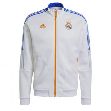 Veste survêtement Real Madrid Anthem blanc orange 2021/22