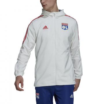 Veste à capuche Olympique Lyonnais blanc 2021/22