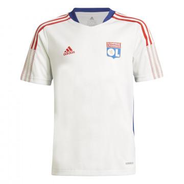 Maillot entraînement junior Olympique Lyonnais blanc 2021/22