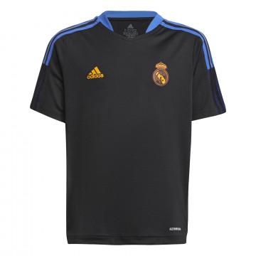 Maillot entraînement junior Real Madrid noir orange 2021/22