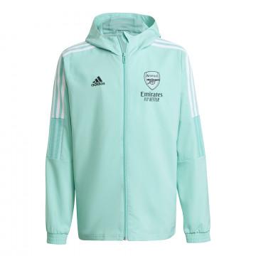 Veste à capuche junior Arsenal vert 2021/22