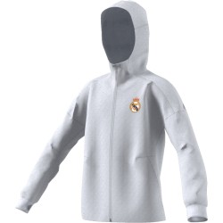 Veste junior Real Madrid Anthem blanche 2016 - 2017